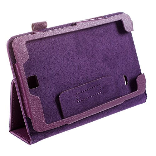 Fltaheroo Funda de piel con función atril para tablet Galaxy Tab SM-T230 4 de 7', color morado