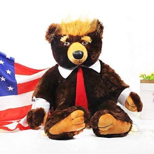 wqmdeshop Kuscheltier 60Cm Donald Trump Bär Plüschtier Coole Usa Präsident Bär Mit Flagge Niedliche Tierbär Puppen Trump Plüsch Kuscheltier Kinder Geschenke