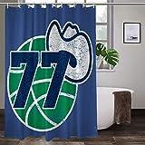 Luka Doncic - Cortina de ducha con logo de Dallas retro, fibra de poliéster de calidad, decoración moderna del cuarto de baño para el hogar, 60 x 72 pulgadas
