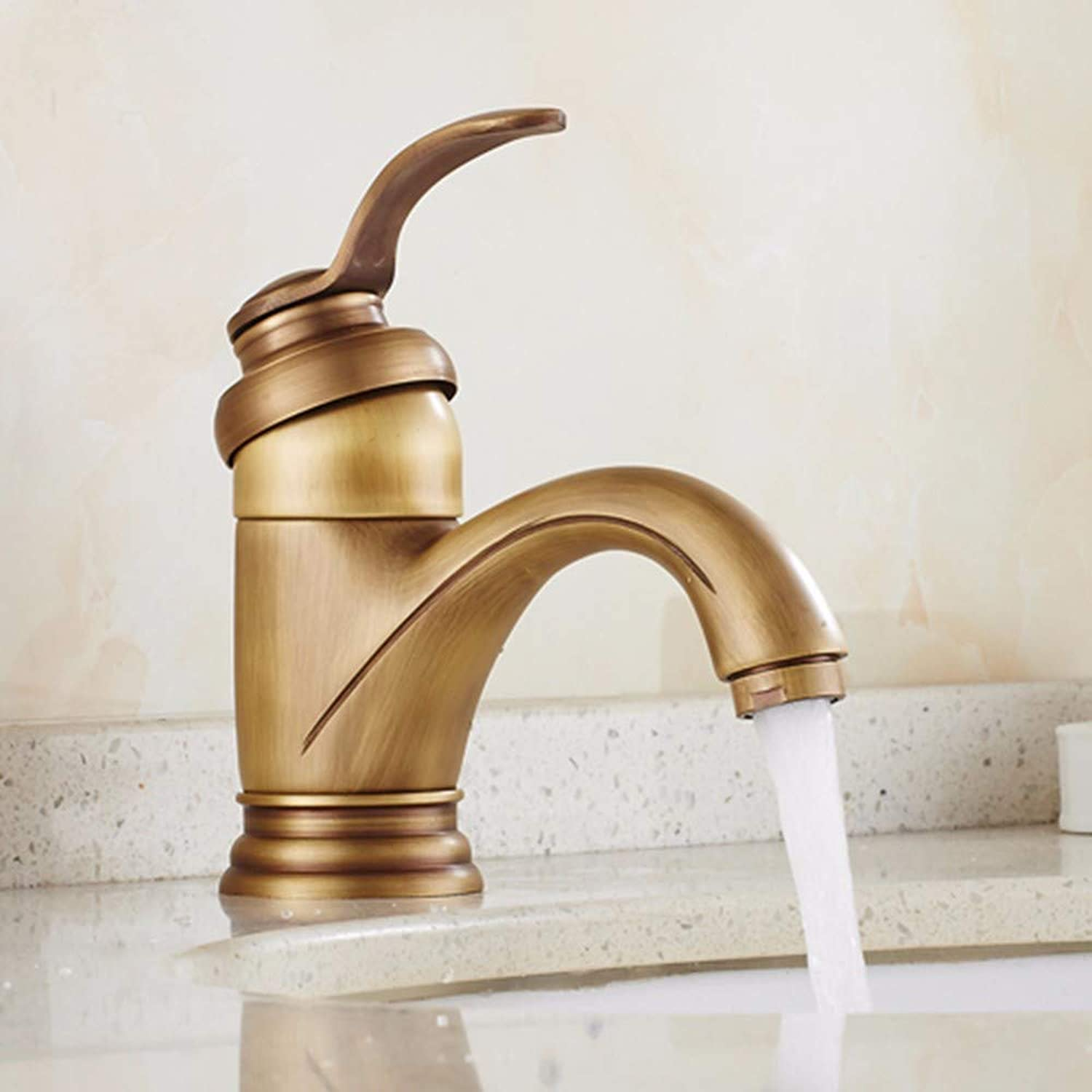 Hlluya Professional Sink Mixer Tap Kitchen Faucet Copper, brushed, hot and cold, the basin, sink and faucet