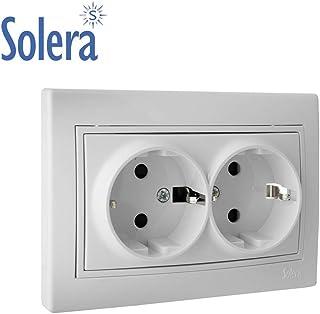 Solera 530 Base de enchufe bipolar 10A 250V.Empotrar.