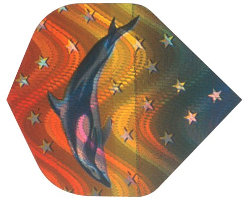 3 Stück Delphin in 2-D Hologramm Flight 802907