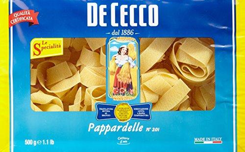 De Cecco Pappardelle Nidi Nr. 201 500 g, 2er Pack (2 x 0.5 kg)