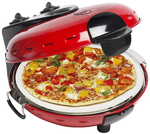 Bestron Pizza Stone Oven, Red