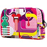 Neceser de Maquillaje para Mujer Bolso Organizador de Kit de Viaje cosmético,Figura Abstracta...