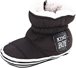 Weixinbuy Infant Newborn Baby Boys Soft Sole Winter Warm Snow Boots