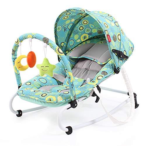 LYXCM Silla mecedora ligera para proteger la columna vertebral, fácil de plegar, adecuada para bebés de 0 a 18 meses