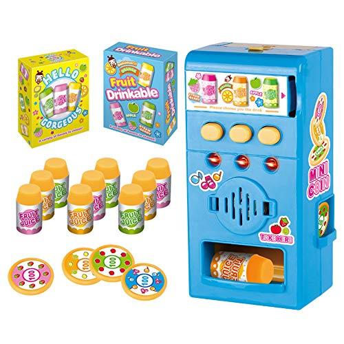 dontdo Juguetes educativos de la casa del juego de los niños, niños simulados LED sonido máquina expendedora kit de simulación juego educación juguete azul