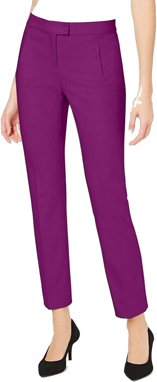 Alfani Womens Slim Fit Tummy Slimming Trouser Pants