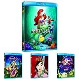 Pack Princesas Disney (La Sirenita + Enredados + Mulán + Tiana Y El Sapo + Bella Y Bestia + La...