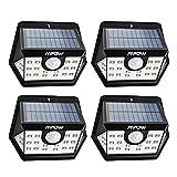Mpow [Version Avancée] Lampe Solaire 4 Pack 20 LED Etanche Détecteur de Mouvement...