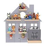 BOARTI das Original Kinder Regal Haus small in Grau - geeignet für die Toniebox und ca. 25 Tonies - zum Spielen und Sammeln