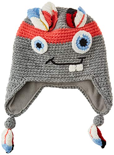 Barts Unisex-Kinder Monster Beanie Girls Wintermütze, Gray, 53