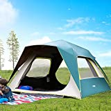 Gogh Family Camping Instant Popup Setup Tent for 4 6 8 People, Cabin