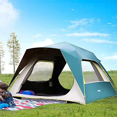 Gogh Family Camping Instant Popup Setup Tent for 4 6 8 People, Cabin Tent with Waterproof, Camping Equipment And Accessories(201T),3~4people
