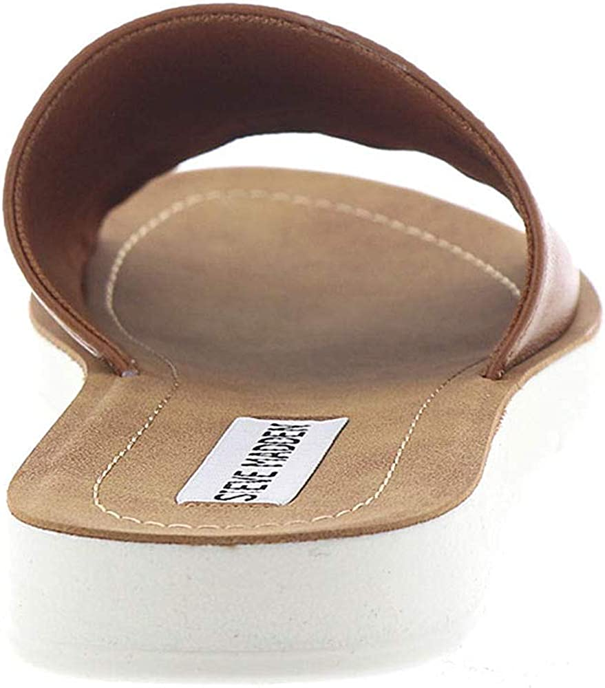 Steve Madden Womens Porter Leather Cognac Open Free Shipping New Casual Toe Online limited product Leath