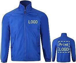 YOWESHOP Long Sleeve Shirts Windbreaker Customize Your Logo Workwear Jackets Outdoor Team Work Uniform Unisex