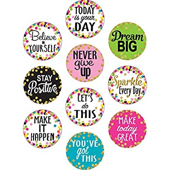 Confetti Positive Sayings Accents  8890