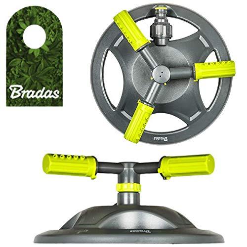 Bradas 3-Arm Rasensprenger Sprinkler Regner Bewässerung Kreisregner Lime LINE 4383