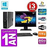 HP PC 6200 SFF Ecran 22' Intel i3-2120 RAM 8Go Disque 1To Graveur DVD WiFi W7 (Reconditionné)