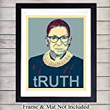 RBG Ruth Bader Ginsburg TRUTH Kunstdruck, Vintage-Stil,