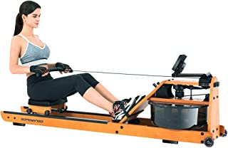 GOROWINGO Water Rowing Machine Rower,Wooden Indoor Row Machine with LCD Monitor for Home Full Body Exercise