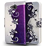 LG Fiesta 2 (L164VL/L163BL) / LG X Power 2 (M320) / LG Fiesta LTE/LG K10 Power/LG X Charge/LG X Power 3 Case, Luckiefind Premium Flip Wallet Credit Card Cover Case (Purple)