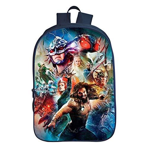 Mzshubao Kids Aquaman Backpack-Boys Back to School Aquaman Bookbag School Backpack-Backpacks for Outdoor,Travel,School
