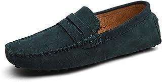 CELANDA Homme Conduite Chaussures Suède Cuir Mocassin Chaussures Penny Loafers Casual Bateau Chaussures de Ville Flats Gra...