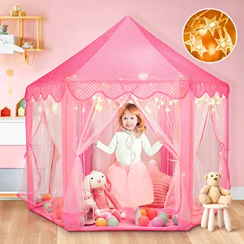Princess Tent for Girls with Carry Bag, Princess Castle Play Tent for...