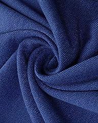 KIDSFORM Women's Long Hoodies Sweatshirt Pullovers Ladies Long Sleeve Plain Hooded Jumper Dresses Loose Hoodies Long Tops with Pocket Hoodie-Blue Size 2XL/UK 20 #5