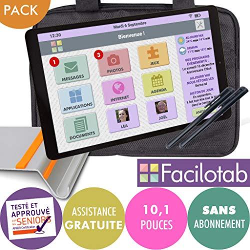 bon comparatif FACILOTAB Pack L Galaxy 10,1 pouces WiFi – 32 Go – Android 9 + Support + Etui + 2 stylos… un avis de 2021
