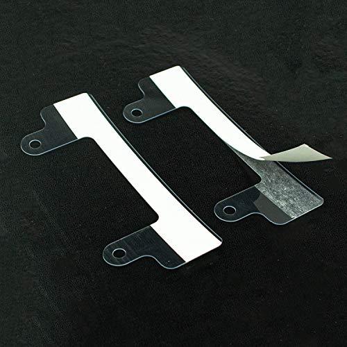 LEO's - 20 Stück Abheftvorrichtung 120D selbstklebend mit 2 Abheftlaschen und extra langen Nasen in Transparent - Abheftstreifen zum Kleben - Selbstklebende Heftstreifen für Schnellhefter