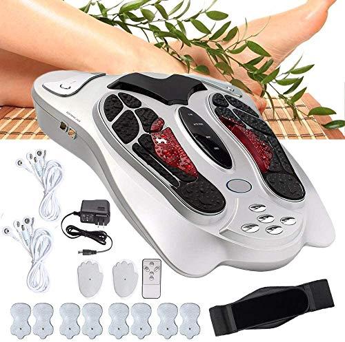 Masajeador de pies eléctrico, Electroestimulador Muscular de piernas y Cuerpo con 25 Modos y Simula 6 técnicas de Masaje con Control Remoto de Velocidad Masaje Pies