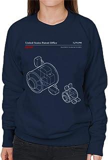 NASA Placement of 4 Racks Node 1 Blueprint Women's Sweatshirt