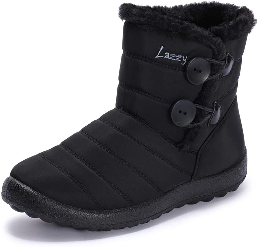 Dacomfy Womens Snow Boots Waterproof Insulated Boots Comfortable Ankle Boots Fuzzy Winter Boots Non Slip Shoes for Women Outdoor Walking Skiing