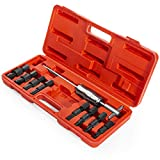 XtremepowerUS 9-Pieces Blind Hole Pilot Bearing Internal/Extractor Puller with Slide Hammer Removal with Carrying Case