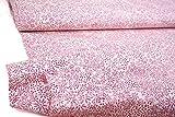 mollipolli-Stoffe Baumwollstoff rosa Blümchen auf beige