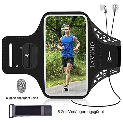 Armtasche Handy Sportarmband für iPhone 12 11 XR X XS Samsung S8 S9 S6 S7 S10 Plus S5 A7 A5 Huawei P9 P10 Lite P20/P20 lite P30 Mate 20 Lite Joggen Laufen Sport Handytasche Mit Karten Halter