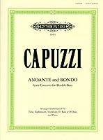 カプッツィ: 「コントラバスのための協奏曲」より アンダンテとロンド/ペータース社/ピアノ伴奏付チューバ・ソロ用編曲