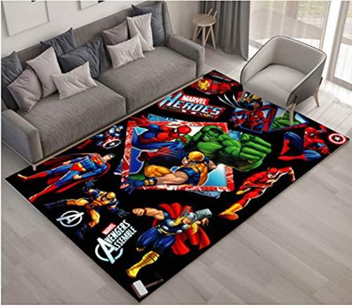 zzqiao Teppich Cartoon Anime Avengers Captain America Stahl Spiderman Kinderzimmer Wohnzimmer Schlafzimmer Nacht Anti Rutsch Teppich Kreative 140 * 200 cm