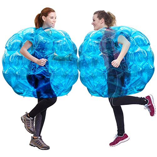 Bumper Balls, 2 Pack Inflatable Body Bubble Soccer Ball, Theefun 36inch Durable PVC Vinyl Bopper Toys for Kids and Adults Physical Outdoor Active Play, Blue