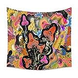Frotox Tapiz de Hongos tapices de Ojos psicodélicos Trippy Flores Coloridas Manta para Colgar en la Pared decoración de la habitación Manta para Colgar en la Pared Trippy