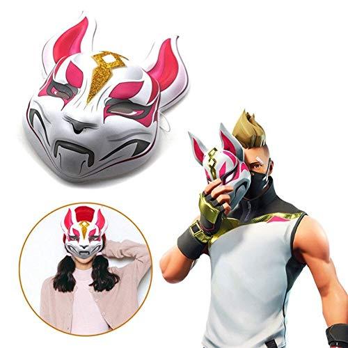 Weichunya Unisex Fox Drift Skin Mask Cosplay Prop Kostüm Augenmaske for Halloween (Color : Red)