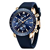 BENYAR - Stylish Wrist Watch for Men, Genuine Silicone Strap Watches, Perfect Quartz Movement, Waterproof and Scratch Resistant, Analog Chronograph and Quartz Business Watches, Best Mens Gift.