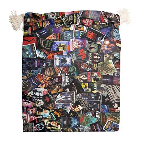 6 bolsas de almacenamiento de terror para Halloween, lavable para el día de San Valentín, bodas, regalos, etc., blanco (Blanco) - Toomjie-STB