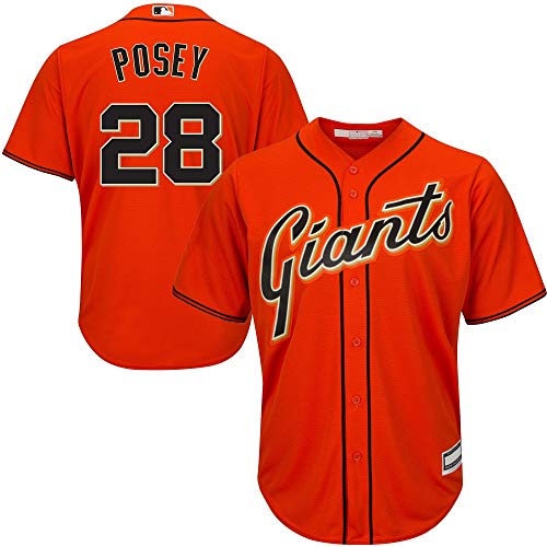 Buster Posey San Francisco Giants MLB Boys Youth 8-20 Player Jersey (Orange Alternate, Youth Small 8)