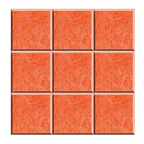 YMQ Paneles acústicos Paquete de 10 Paneles de Estudio de grabación de 11.8'x11.8 x0.4, Adhesivo de Pared para jardín de Infantes, Tablero de exhibición de Trabajo(Color:Naranja)