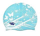Moolecole Soft Waterproof Silicone Swim Cap Women Summer Pool Sea Swimming Cap Kids