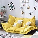 NMBC Sofá Perezoso Plegable Big Bean Bag Floor Chair Floor Living Room Balcony Bean Bag Outdoor Garden Single Recliner...